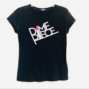 DIME PIECE Lipstick black short sleeve shirt
